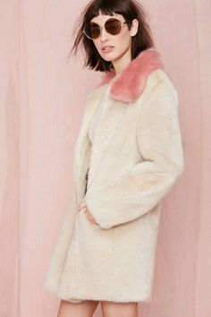 Unreal Fur Candy Blossom Coat at Nasty Gal