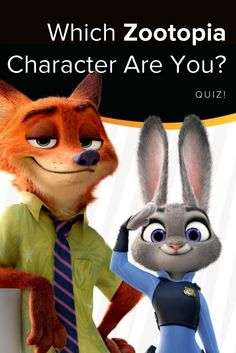 Which Zootopia character are you? Take this quiz and find out today!