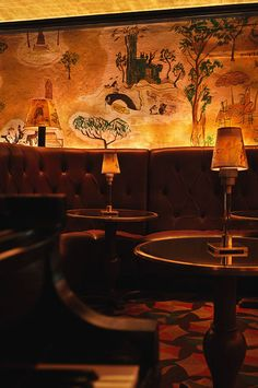 Bemelmans Bar, New York City.  Original murals by Madeline author and illustrator Ludwig Bemelmans himself.