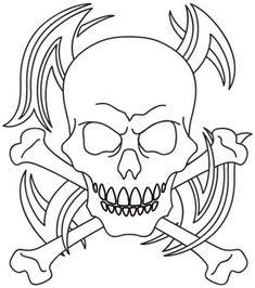 Tribal Skull and Crossbones design (UTH1060) from UrbanThreads.com