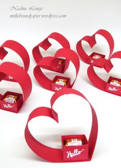Workshop Report Part 1 - Party Favors (Stampin 'Up! Orientp Workshopbericht Teil 1 – Gastgeschenke (Stampin' Up! Orientpalast) Stampin 'Up! Berlin Workshop Stempelperty guest gift heart wedding homemade kiss packaging 2 with love paper … - Party Favors, Wedding Favors, Wedding Gifts, Stampin Up, Diy And Crafts, Crafts For Kids, Paper Crafts, Creative Crafts, Yarn Crafts