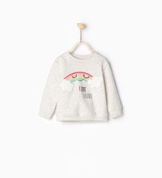 Image 1 of Striped cat sweatshirt from Zara Baby Outfits, Girly Outfits, Kids Outfits, Zara Kids, Fashion Kids, Baby Girl Fashion, Sweat Shirt, Ss16, Disney Baby Clothes