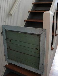 vintage panel baby gate, Rachel Ashwell Shabby Chic, Rachel Ashwell The Prairie B, stairway gates