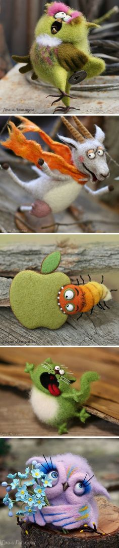 Funny Felt Toys | Забавные валяные игрушки — Купить, заказать, игрушка, валяный #feltanimals #feltanimalsdiy