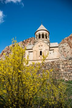 Norvank monastery in the spring. The 13th century monastery is situated in a gorge near Yeghegnadzor, Armenia, and is only a couple of hours away from Yerevan, Armenia's capital.