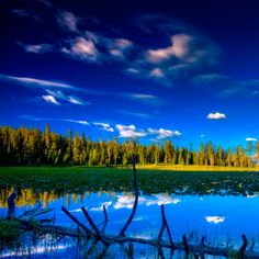 Blue Landscape #iPad #Wallpaper