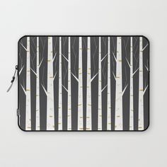 Birch forest Laptop Sleeve by flatowl | Society6