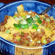 Five Minute Frito Pie -- Need a good, hot meal fast? Frito(R) Pie will fill you up, and it's pretty darned easy to make in the microwave!  http://mantestedrecipes.com/recipe/9086/five-minute-frito-pie.aspx