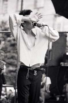 Morrissey: The Smiths' GLC 'Jobs For A Change' Festival concert at Jubilee Gardens, London, England on June 10, 1984.