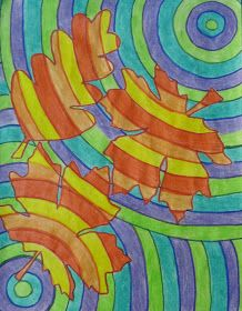 Runde's Room: Falling Leaves in Art Class ~ cool colors & warm colors w/ lesson pla