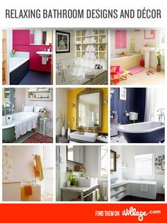 20 bathroom decor ideas to get you started on your next remodeling project. #home #bathroom http://www.ivillage.com/bathroom-designs-and-decor/7-b-256315?cid=pin|homedecor|bathrooms|11-20-12