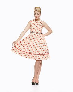 Sammy Pink Flamingo 50's Dress | Vintage Inspired Fashion - Lindy Bop