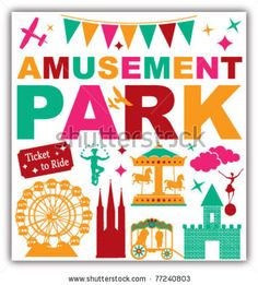 stock vector : amusement park