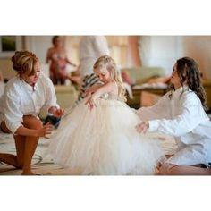 (2) The Victorian, Flower girl dress Ivory, Champagne tutu dress, baby tutu dress, toddler tutu dress,newborn | Pinterest by biydress