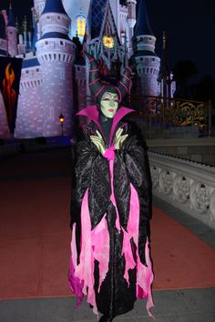 Maleficent at Mickey's Not So Scary Halloween Party