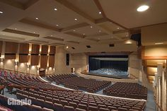 auditorium shows the idea of grids not only organizing buildings in a city but also people's seating in a space. Church Interior Design, Church Design, Multipurpose Hall, Spa Treatment Room, Modern Church, Church Architecture, Theatre Design, Concert Hall, Auditorium