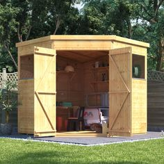 billyoh expert tongue and groove corner workshop shed garden sheds garden buildings direct