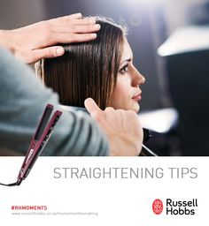 Going out this weekend? Make sure your hair looks great with these hair straightening tips.  1) Divide your hair into sections to ensure you don't miss any strands. 2) Set your straightening iron to the correct temperature for your hair type. 3) Begin straightening about an inch away from the root, this will leave a little volume in your hair and make sure it doesn't look too flat. Hair Straightening, Win A Trip, 2 Set, Hobbs, Hair Looks, Strands, Hair Type, Straightener, Type 3