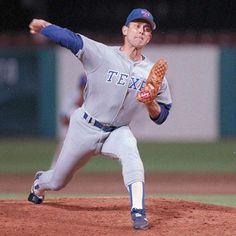Nolan Ryan, Baseball Hall of Famer, born in Refugio, Tx. Rangers Baseball, Texas Rangers, Baseball Players, Baseball Field, Hockey, Football, Baseball Memes, Sports Memes, Baseball Stuff