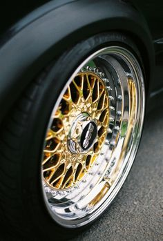 Amazing BBS Super RS Rim - Gold with Machined Lip