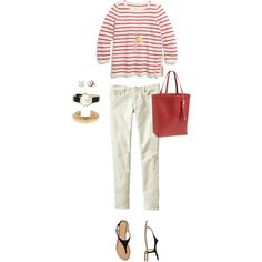 Red, White and Black by bluehydrangea on Polyvore featuring Madewell, Gap, Carlo Pazolini, Deux Lux, J.Crew, Kate Spade and Stella & Dot
