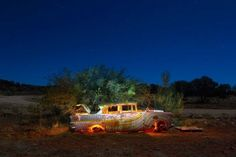 Abandoned car by Robert Fielding