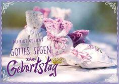 Doppelkarte zum Geburtstag mit Segenswunsch Format 17 cm x 12 cm Motiv Lavendelduft mit Spotlack veredelt Kuvert Text: Du bist geliebt! Gottes Segen zum Geburtstag.