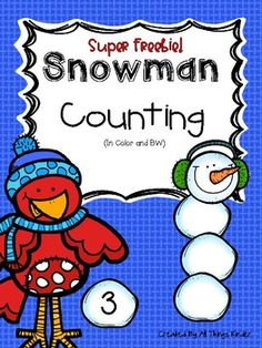 Winter counting fun is here! Students can build a snowman while practicing counting with the numbers 0-20! Just pick a snowball number card, then use the snowballs to build your snowman! Students can also write missing numbers on the snowman with a dry erase marker!To assemble, copy, cut, and laminate snowman heads, snowballs, and numbers.