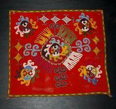 Lakai uzbek silk embroidery, nomads textiles, 19th, uzbekistan