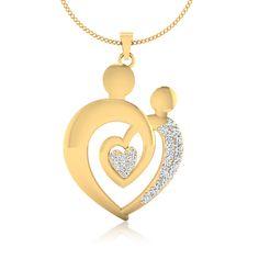 Genuine Diamond Pendant Perfect Mother's Day gift!!!! 100% Authentic Diamonds! #Diamond #Pendant on 14kt Yellow Gold. #Jewelry #Necklaces