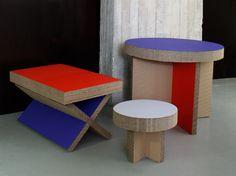 Temporary 'X-Board' furniture.