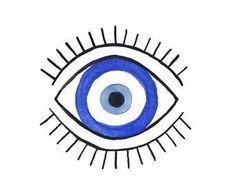 Evil Eye Art, Eye Illustration, Turkish Eye, Hamsa, Art Inspo, Line Art, Art Drawings, Canvas Art, Art Prints