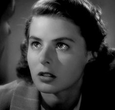 Ingrid Bergman as Ilsa Lund in Casablanca. - Ingrid Bergman as Ilsa Lund in Casablanca - Ingrid Bergman Casablanca, Casablanca 1942, Casablanca Movie, Old Movies, Great Movies, Vintage Hollywood, Classic Hollywood, Ingrid Bergman Movies, Divas