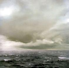 "Gerhard Richter ""cloudy seascape"" painting"