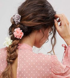 Asos Pack Of 3 Floral Bouquet Hair Clips
