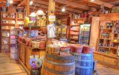 Oldest General Stores - Best Country Store Country Store Display, Candy Store Display, Store Displays, Old General Stores, Old Country Stores, Candy Store Design, Cowboy Store, Store Counter, Farm Store