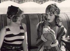 Agnes Franey and Myrna Loy