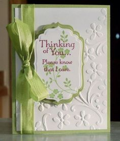 Sympathy Card, Stampin Up Thoughts and Prayers