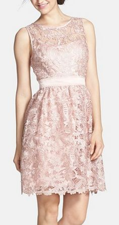 Beautiful lace fit  flare dress http://rstyle.me/n/j9hjvnyg6
