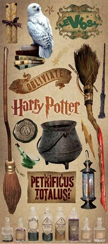 Harry Potter - Large Scrapbooking Stickers                              …