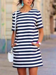 21 Cute Summer Outfits You'll Love This Season: #12. STRIPED DRESS; #summerfashion; #outfits; #dresses