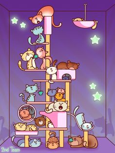 A new cute picture from Catchin' Cats !