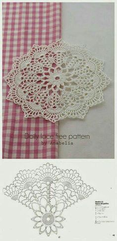 Crochet Coasters Pattern Ganchillo 44 New Ideas Free Crochet Doily Patterns, Crochet Doily Diagram, Crochet Motifs, Crochet Chart, Crochet Squares, Thread Crochet, Filet Crochet, Crochet Stitches, Free Pattern