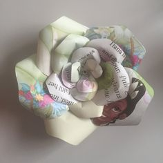 Upcycled handmade Disney Princess paper rose by Karolina Rose #DisneyFan #Tiana…