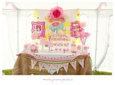 A Girly Circus Extravaganza Party: The Dessert Table vintage elephant