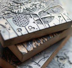 linoleum stamps    My Wonderful World
