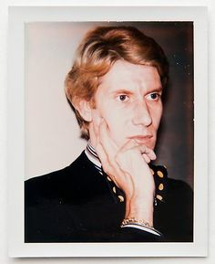 Yves Saint Laurent, polariod by Andy Warhol, ca. 197x.