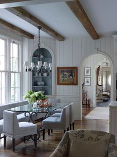 In Good Taste: Chris Luker Photography - Design Chic Design Chic Interior Trim, Best Interior, Interior Design, Cottage Interiors, Wood Interiors, Beautiful Dining Rooms, Dining Nook, Interior Photography, New Homes