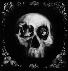 Optical Illusion Skull Portraits by Tom French