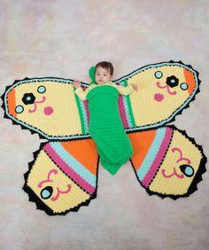 Free Crochet Butterfly Baby Blanket Pattern